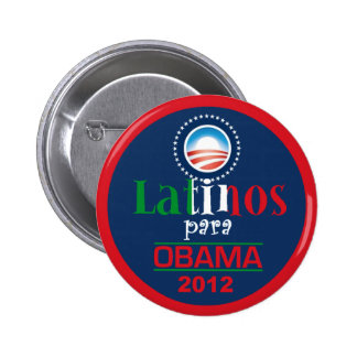 Obama LATINOS 6 Cm Round Badge
