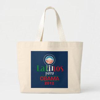 Obama LATINOS Jumbo Tote Bag