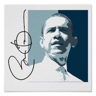 OBAMA LEADERSHIP BLUE -.png Print
