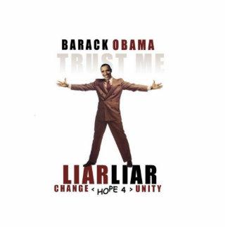 Obama - Lliar Liar Satire Standing Photo Sculpture