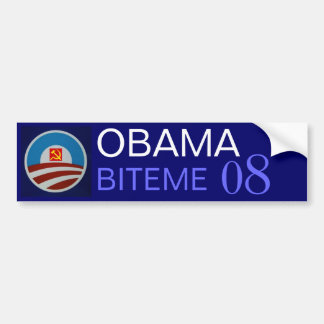 Obama-logo-712332, hammer sickle, OBAMA, BITEME... Bumper Sticker