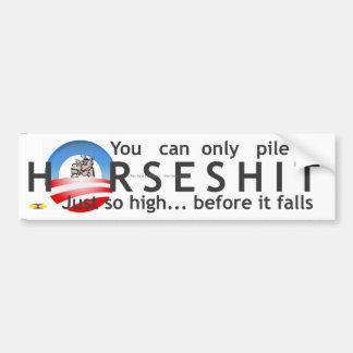 Obama Logo Horseshit plain writing Bumper Sticker