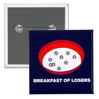Obama Logo Parody - Breakfast of Losers button