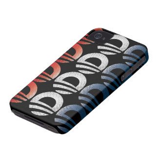 Obama Logo Red White and Blue 2012 iPhone 4 Case