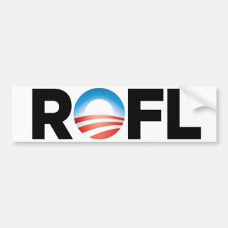 Obama Logo - Rolling on the Floor Laughing Bumper Sticker