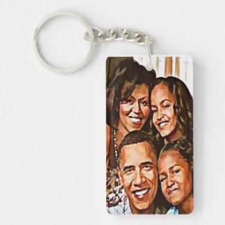 Obama Love_ Acrylic Key Chains