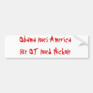 Obama Loves America Car Bumper Sticker