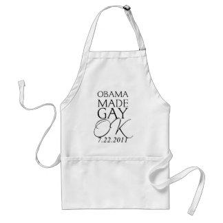 Obama made Gay Ok Standard Apron