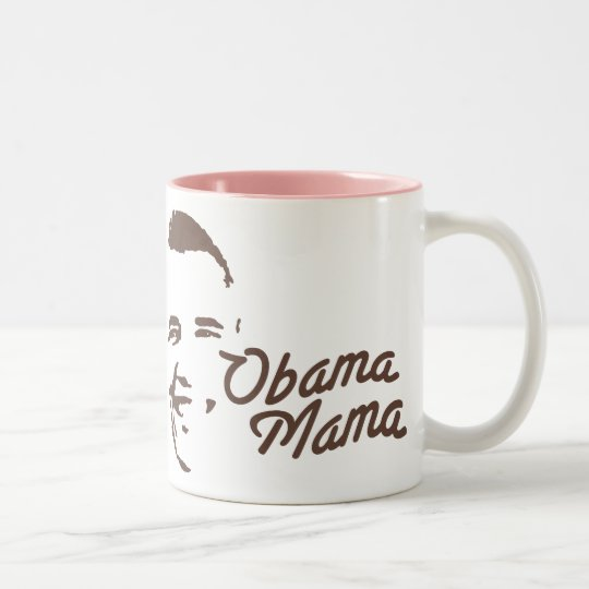 OBAMA MAMA Two-Tone COFFEE MUG