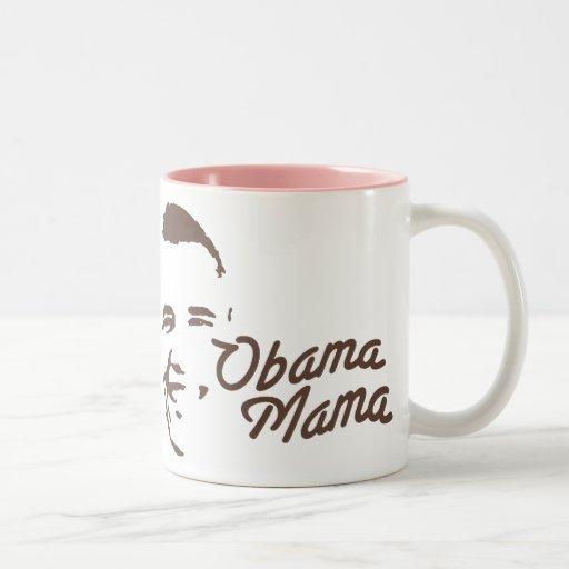 OBAMA MAMA Two-Tone MUG