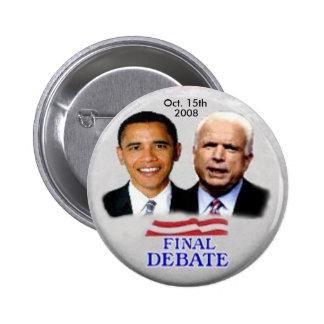 Obama McCain Debate Button