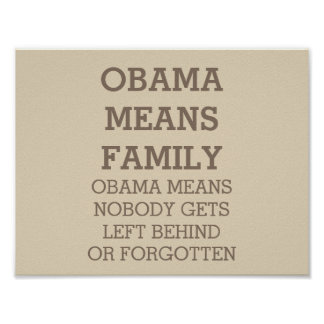 Obama Means Family Poster