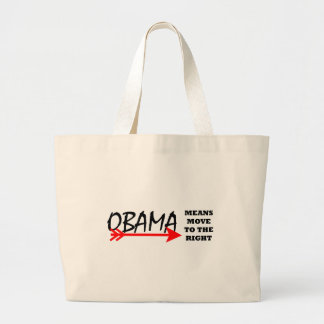 OBAMA Means Move To The Right The MUSEUM Zazzle Jumbo Tote Bag
