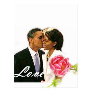 Obama-Michelle Love Postcard