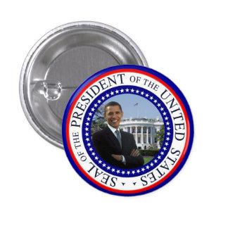 Obama Mini Button - Red White and Blue