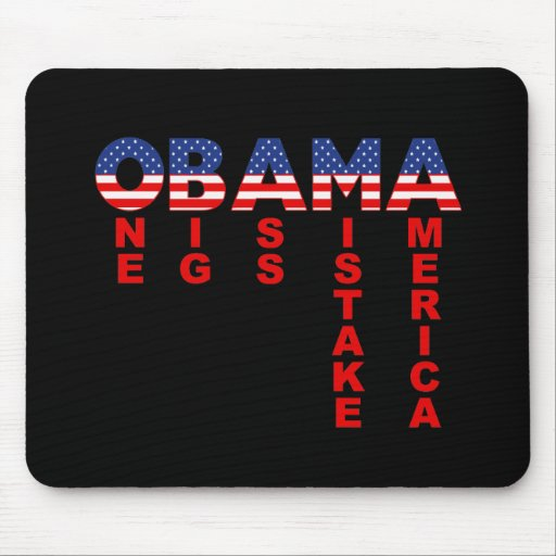 Obama Mistake 1 Mouse Mat
