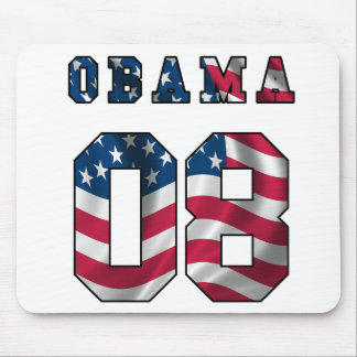 obama mouse pad with american flag