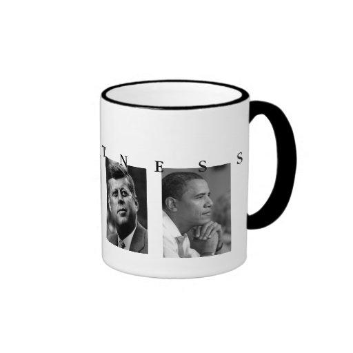 OBAMA MUG: GREATNESS Lincoln FDR JFK Obama