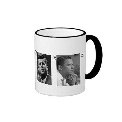 OBAMA MUG: GREATNESS Lincoln FDR JFK Obama 15oz