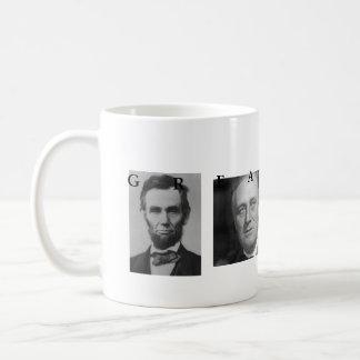OBAMA MUG: GREATNESS Lincoln FDR JFK Obama Coffee Mug