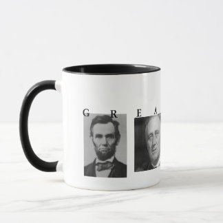 OBAMA MUG: GREATNESS Lincoln FDR JFK Obama Mug