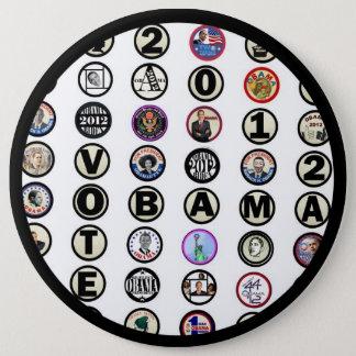 Obama multi-pin 6 cm round badge
