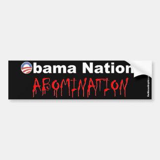 Obama Nation: Abomination Bumper Sticker