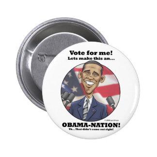 Obama-Nation Pinback Buttons
