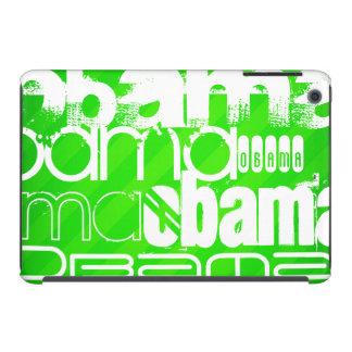 Obama; Neon Green Stripes iPad Mini Retina Case