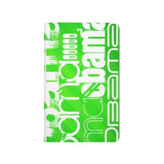 Obama; Neon Green Stripes Journal