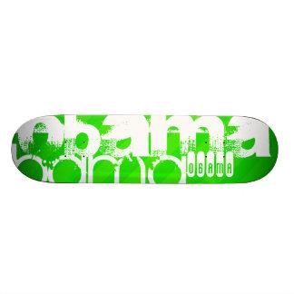 Obama; Neon Green Stripes Skate Board Decks