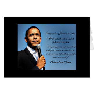 Obama Notecard - 44th President Note Card