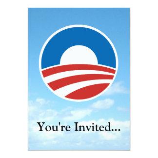 Obama-O Logo with Blue 13 Cm X 18 Cm Invitation Card