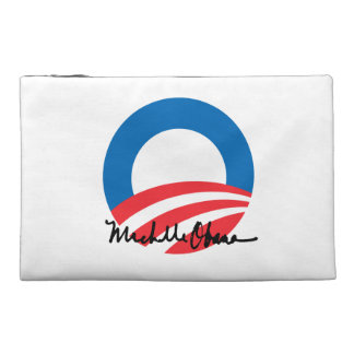 OBAMA O WITH MICHELLE OBAMA AUTOGRAPH TRAVEL ACCESSORY BAGS