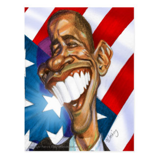 Obama Omage color postcard