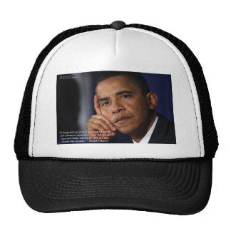 """Obama """"On Changing"""" Wisdom Quote Gifts & Tees Cap"""