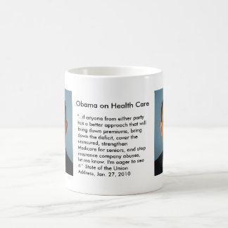 Obama on Health Care 1 Basic White Mug