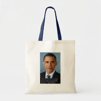 Obama on perfection of the Union Budget Tote Bag