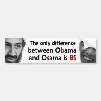 Obama & Osama Bumper Sticker
