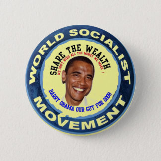 obama our guy, socialist 6 cm round badge