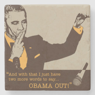 """""""Obama Out"""" Marble Coaster"""
