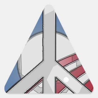 Obama Peace Sign Triangle Sticker