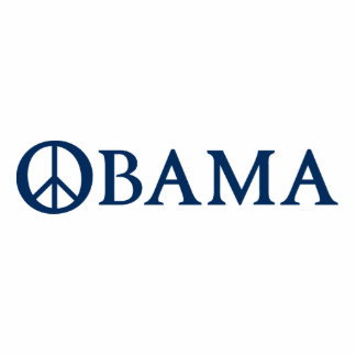 Obama Peace Symbol Standing Photo Sculpture
