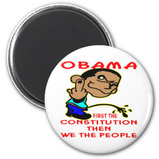Obama Peeing On Constitution & We The People 6 Cm Round Magnet