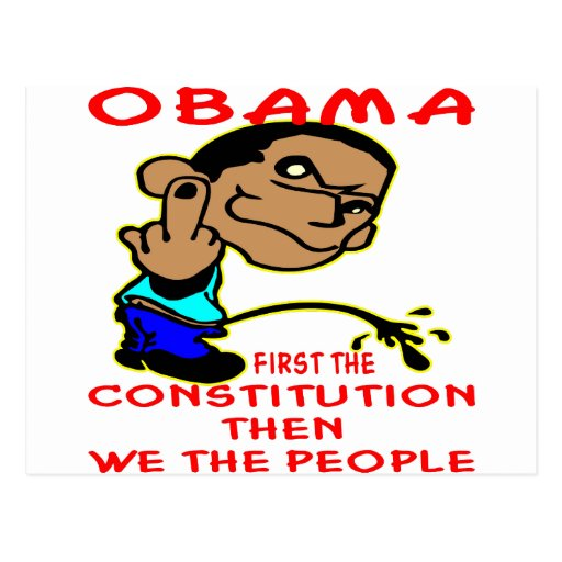 Obama Peeing On Constitution & We The People Post Card