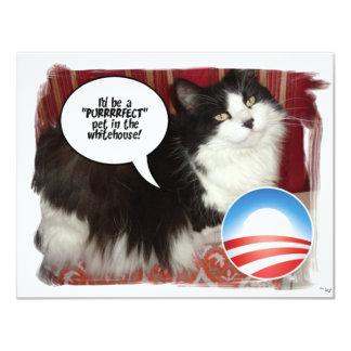 Obama Pet/Political Humor 11 Cm X 14 Cm Invitation Card