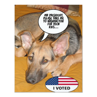 Obama Pet/Whitehouse Humor 4.25x5.5 Paper Invitation Card