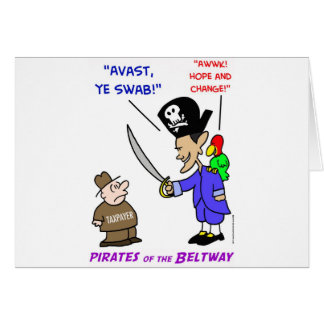 obama pirate avast greeting card
