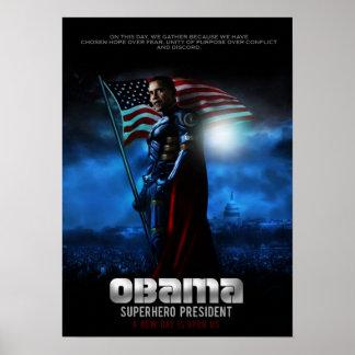 OBAMA POSTER Super Hero President
