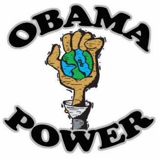 Obama Power Standing Photo Sculpture